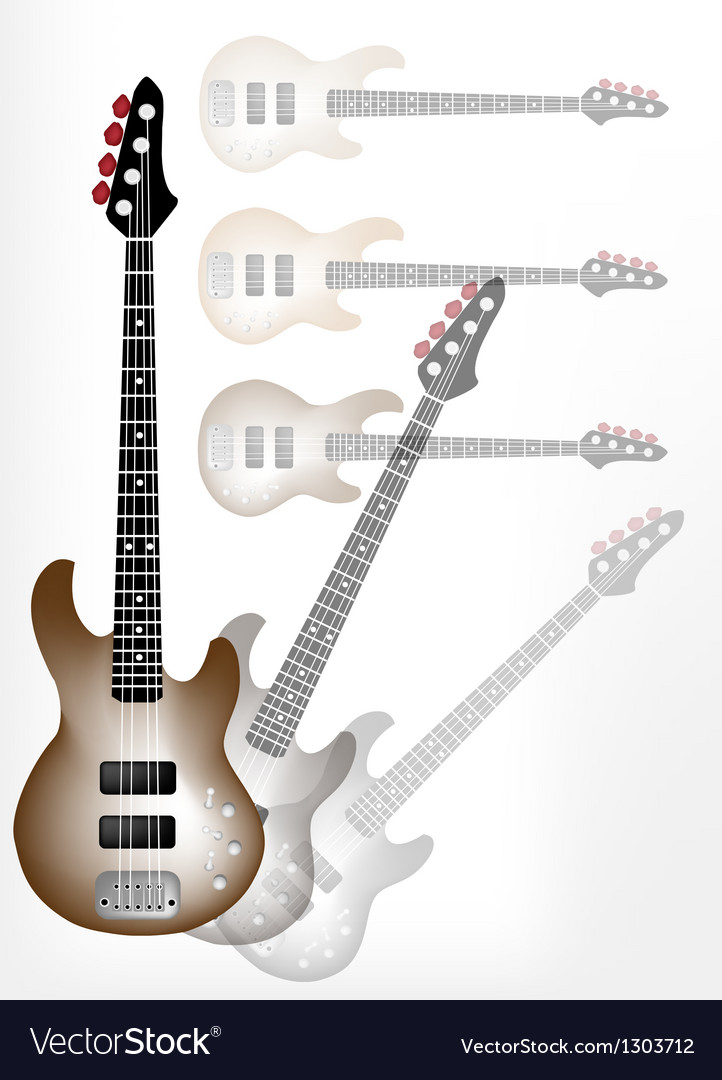 Beautiful brown electric guitar with guitar shadow vector | Price: 1 Credit (USD $1)