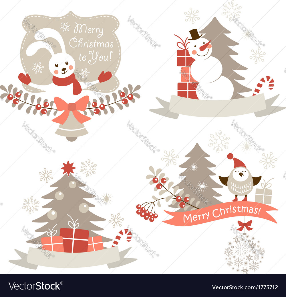 Christmas graphic elements set vector | Price:  Credit (USD $)