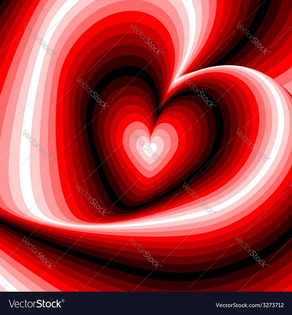Design heart swirl rotation background vector   Price: 1 Credit (USD $1)