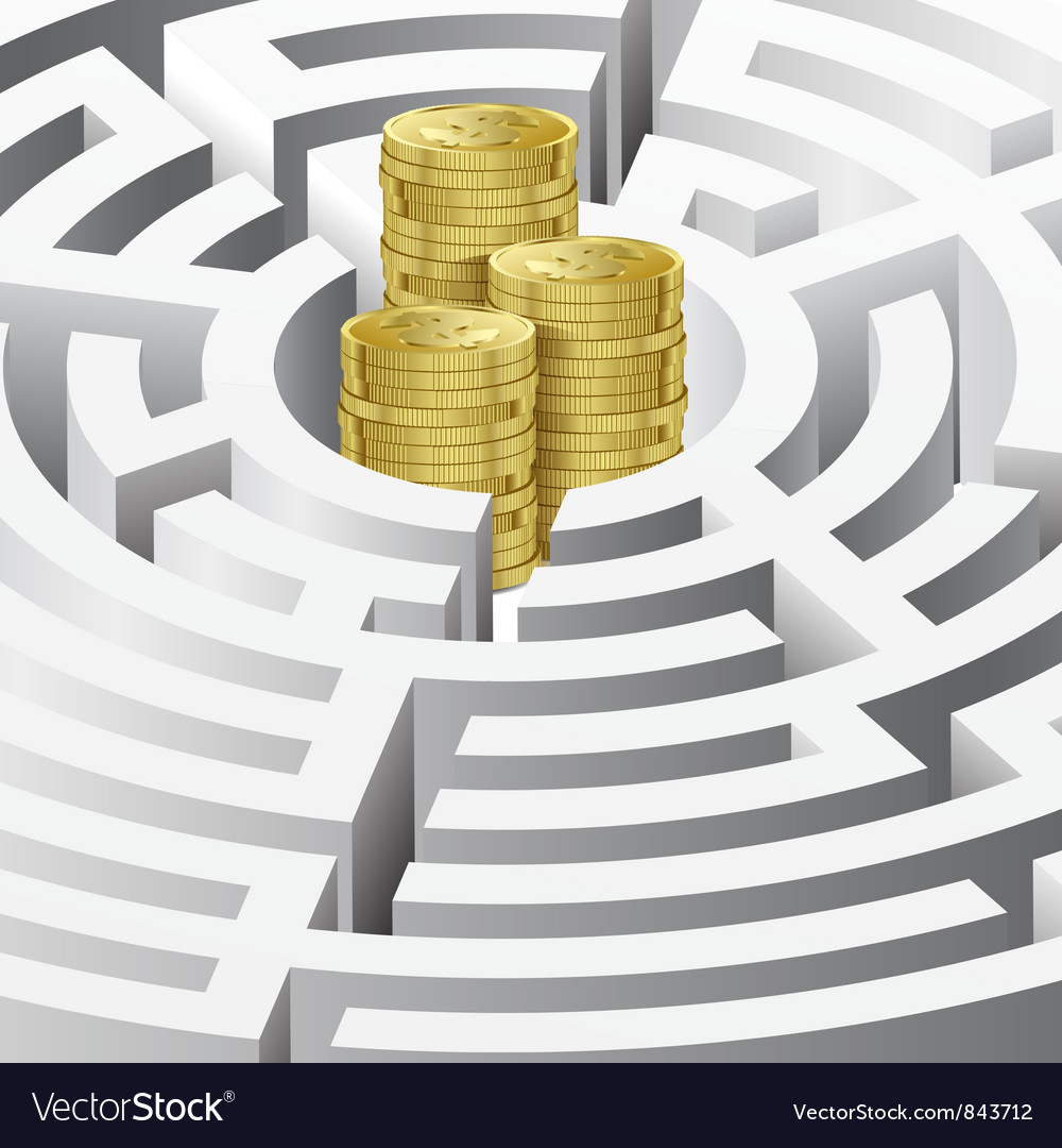 Money in the maze vector | Price: 3 Credit (USD $3)