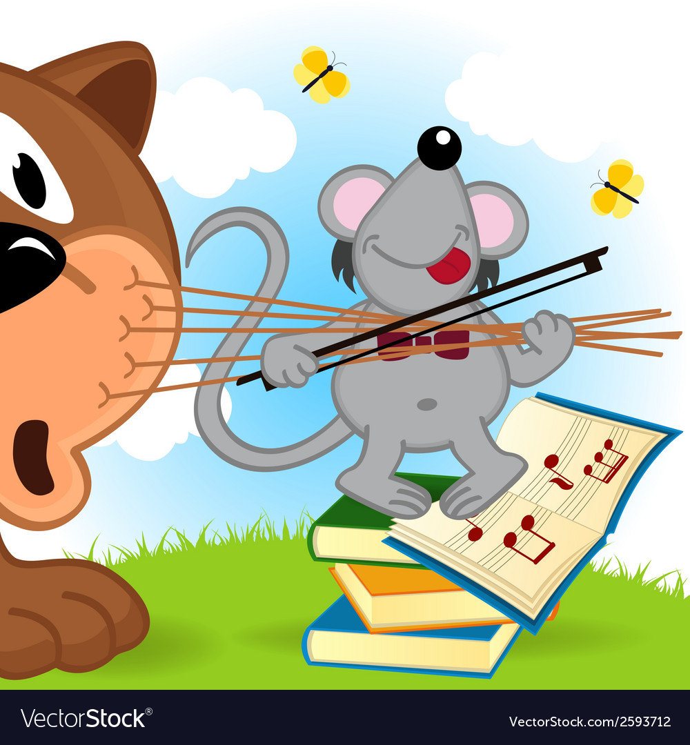 Mouse violinist vector | Price: 1 Credit (USD $1)