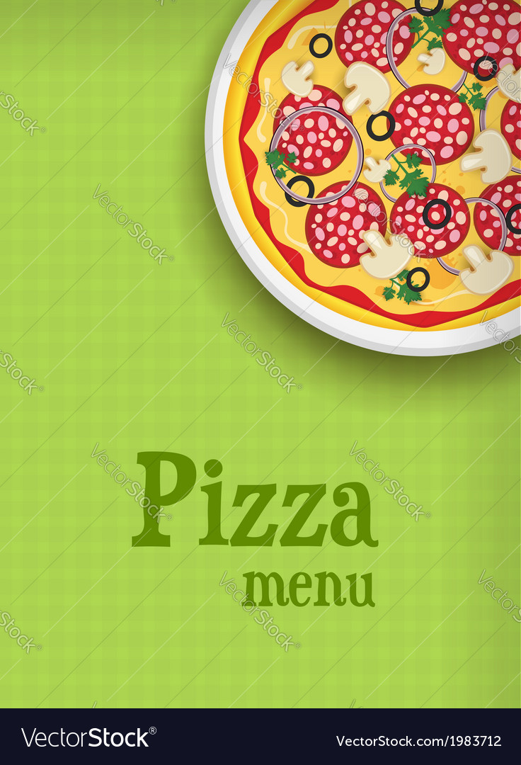 Pizza green menu vector | Price: 1 Credit (USD $1)