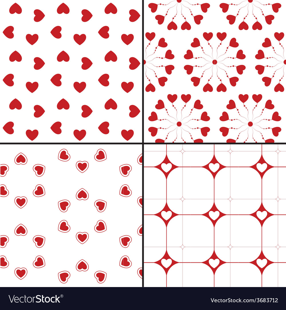 Seamless pattern with hearts repeating texture vector | Price: 1 Credit (USD $1)