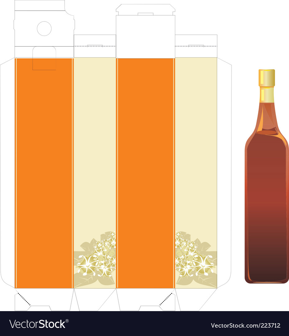 Vinegar template box vector | Price: 1 Credit (USD $1)