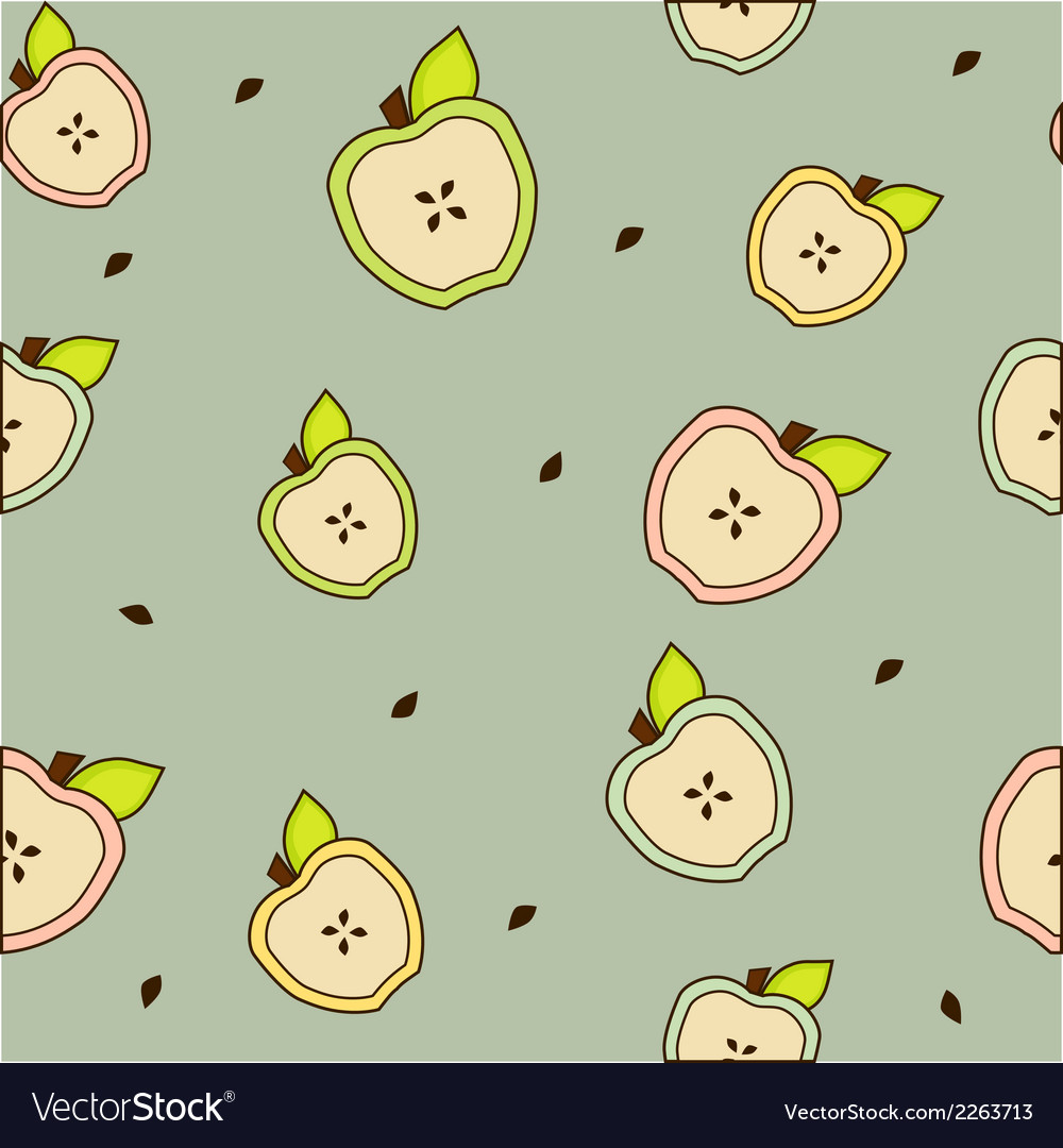 Apple seamless background gray vector | Price: 1 Credit (USD $1)