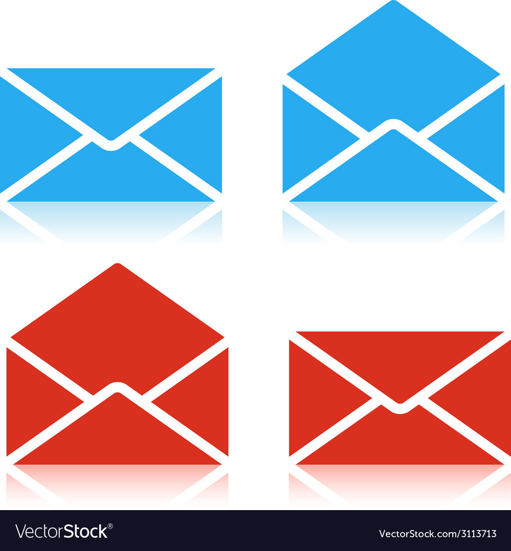 Envelope set icon vector | Price: 1 Credit (USD $1)