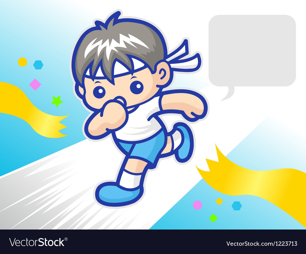 My power to reach the finish sprinter mascot vector | Price: 3 Credit (USD $3)