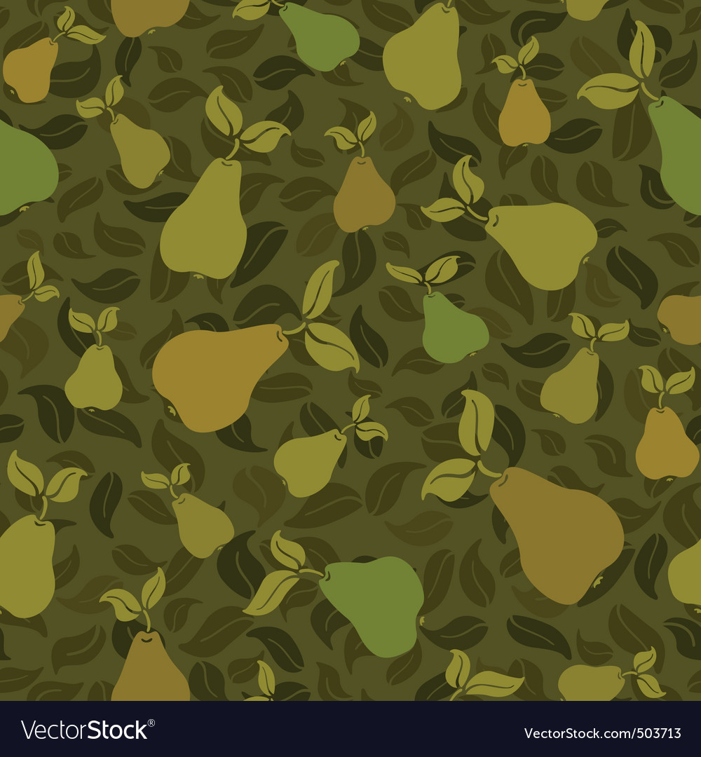 Pear seamless background vector | Price: 1 Credit (USD $1)