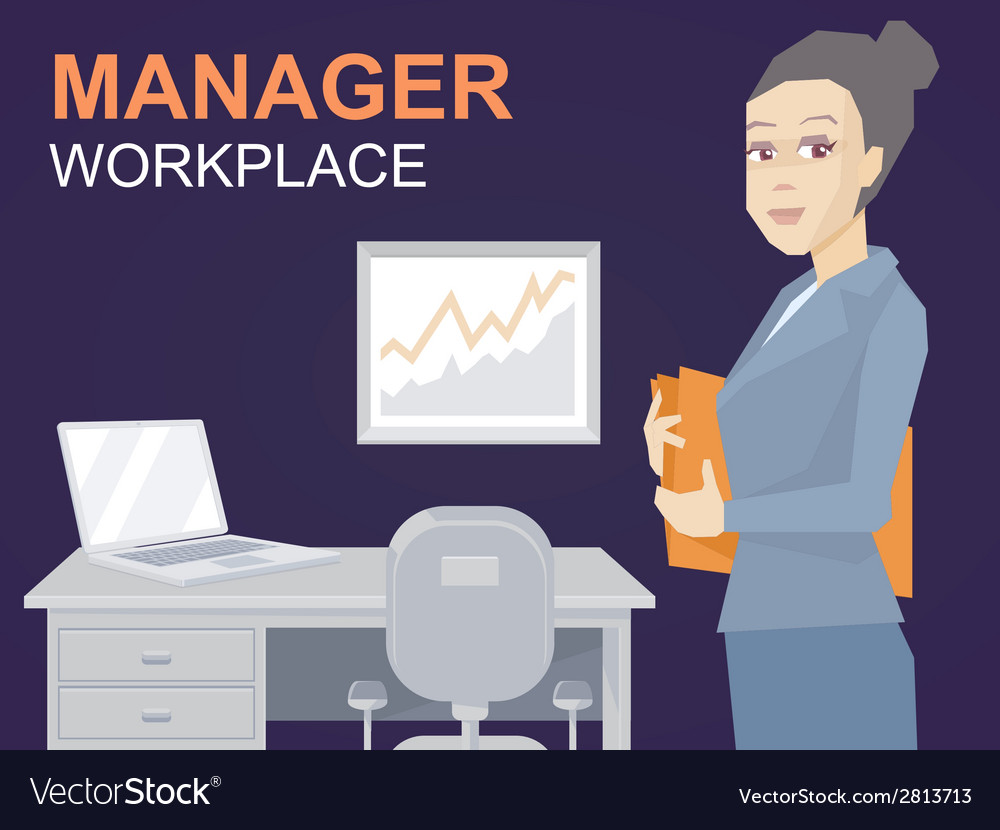 Portrait of a woman manager keeps a folder w vector   Price: 1 Credit (USD $1)