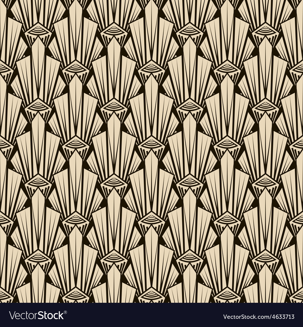 Seamless antique pattern ornament geometric art vector | Price: 1 Credit (USD $1)