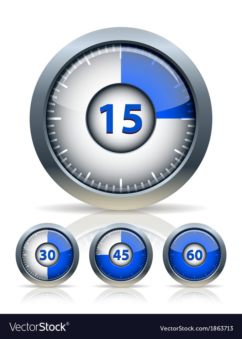 Set of timer clock vector | Price: 1 Credit (USD $1)