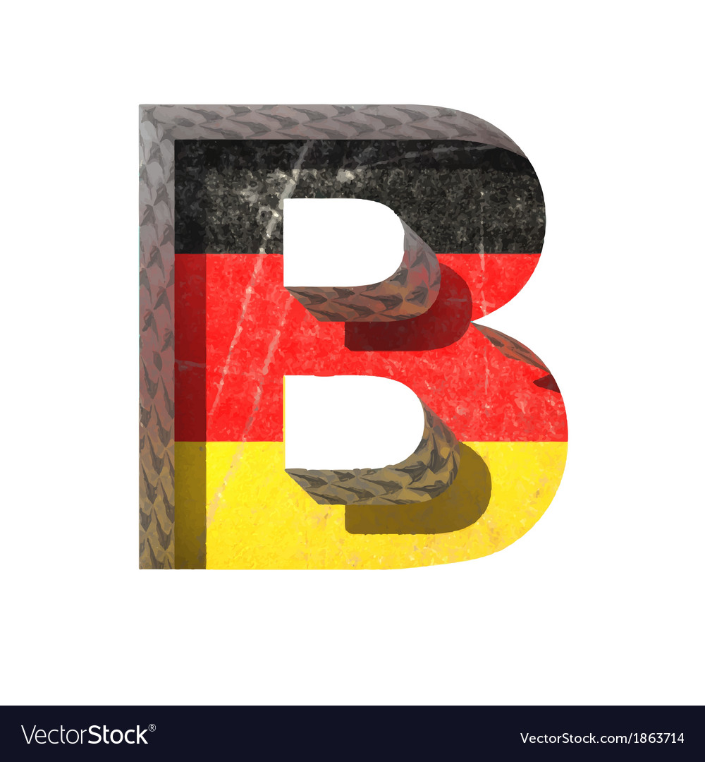 Germany cutted figure b vector | Price: 1 Credit (USD $1)