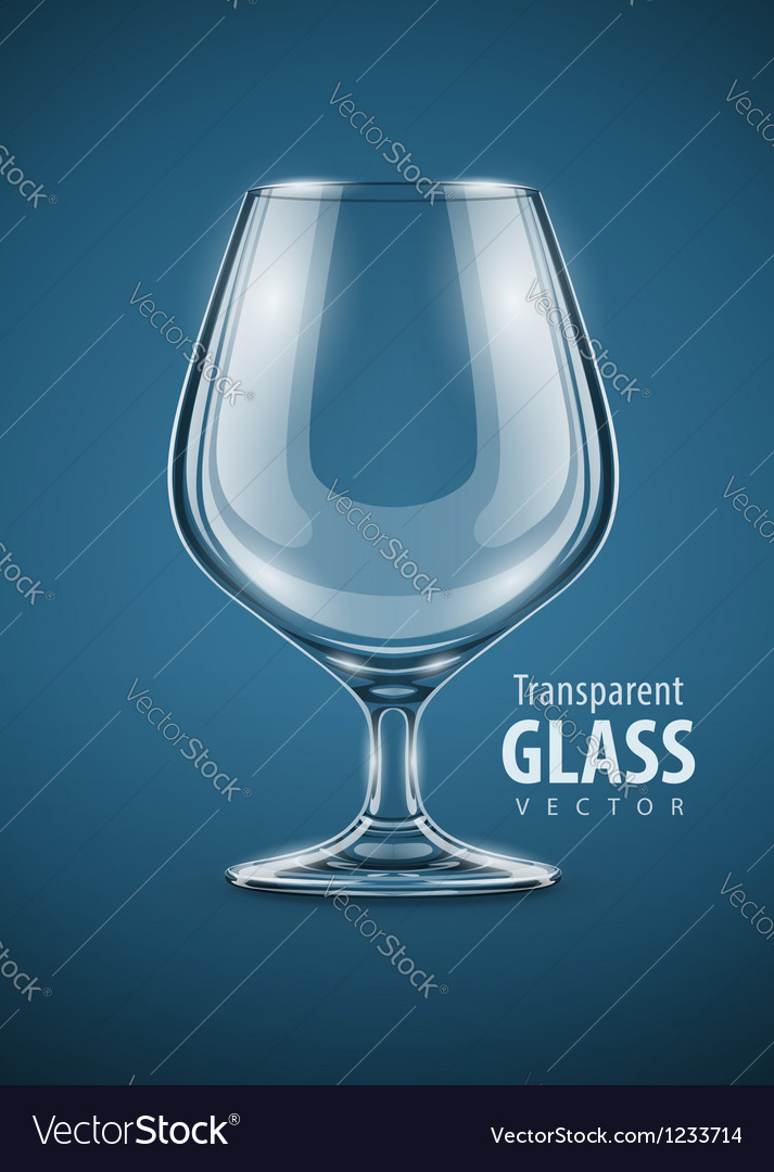 Glass goblet for brandy drinks vector | Price: 3 Credit (USD $3)
