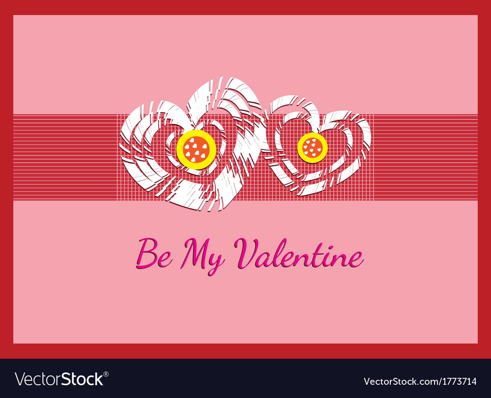 Kids crafting be my valentine card vector | Price: 1 Credit (USD $1)