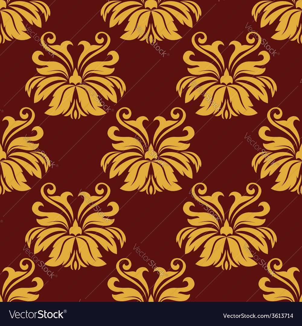 Lush foliate seamless pattern vector | Price: 1 Credit (USD $1)