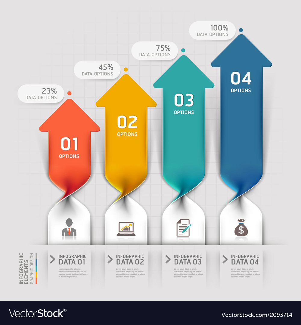 Modern arrow business spiral infographics vector | Price: 1 Credit (USD $1)