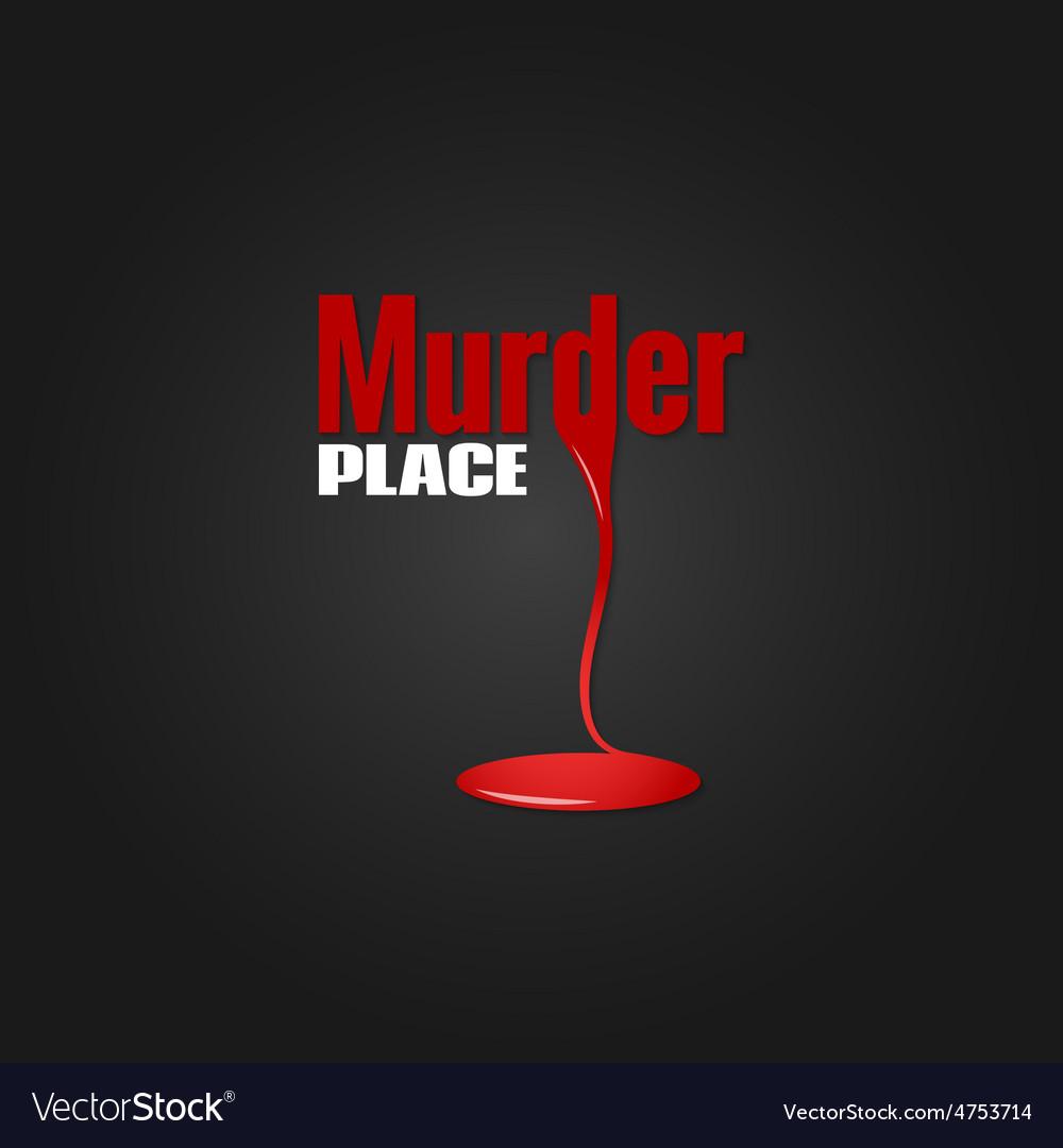 Murder blood design background vector | Price: 1 Credit (USD $1)
