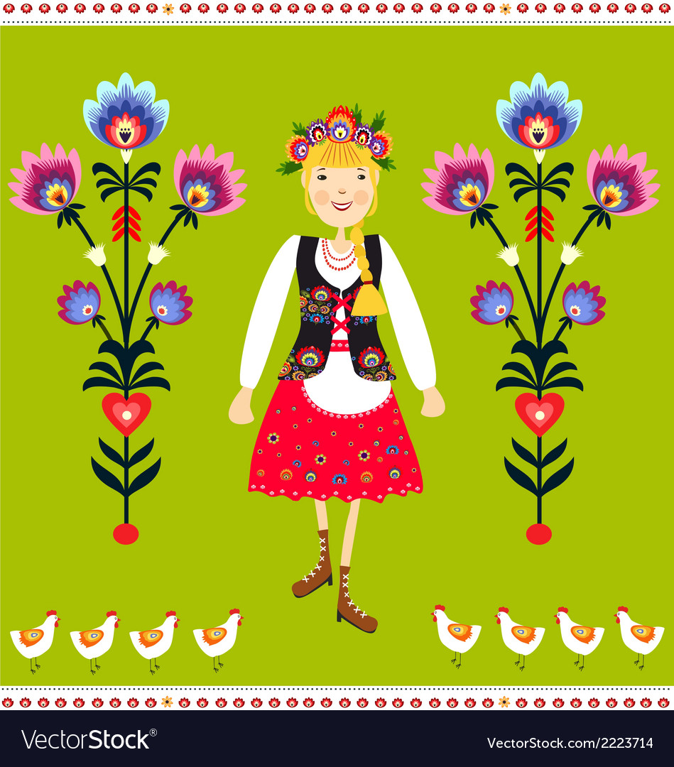 Polish folk vector | Price: 1 Credit (USD $1)