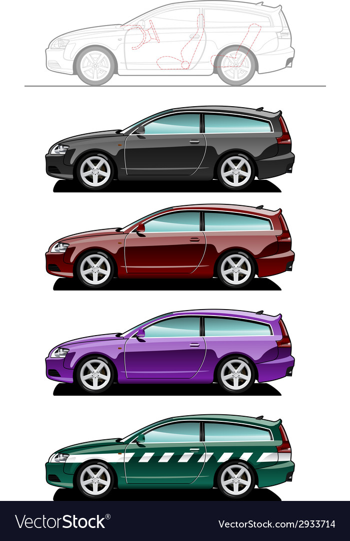 Shooting brake vector | Price: 1 Credit (USD $1)