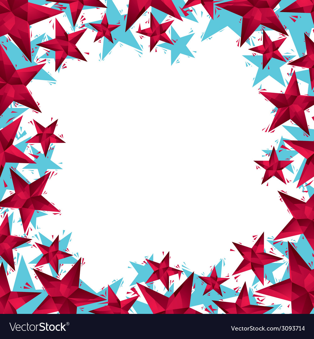 Stars border made in contemporary geometric style vector | Price: 1 Credit (USD $1)