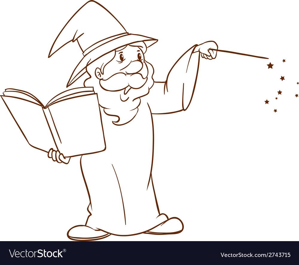 A simple sketch of a wizard vector   Price: 1 Credit (USD $1)