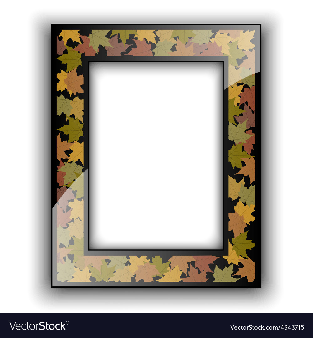 Glass photo frame autumn design vector | Price: 1 Credit (USD $1)