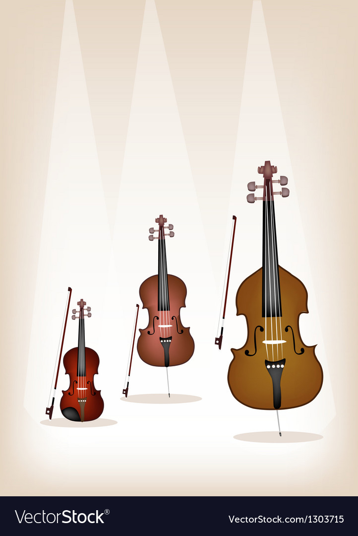 Musical instrument strings on brown background vector | Price: 1 Credit (USD $1)