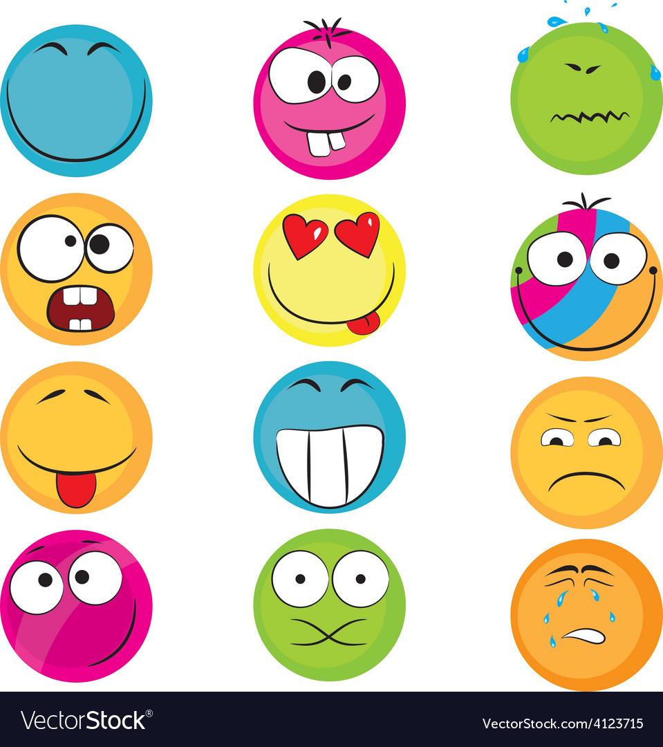 Set of emoticons vector | Price: 1 Credit (USD $1)