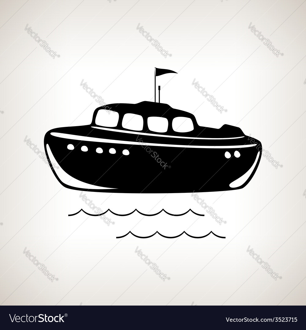 Silhouette boat on a light background vector | Price: 1 Credit (USD $1)