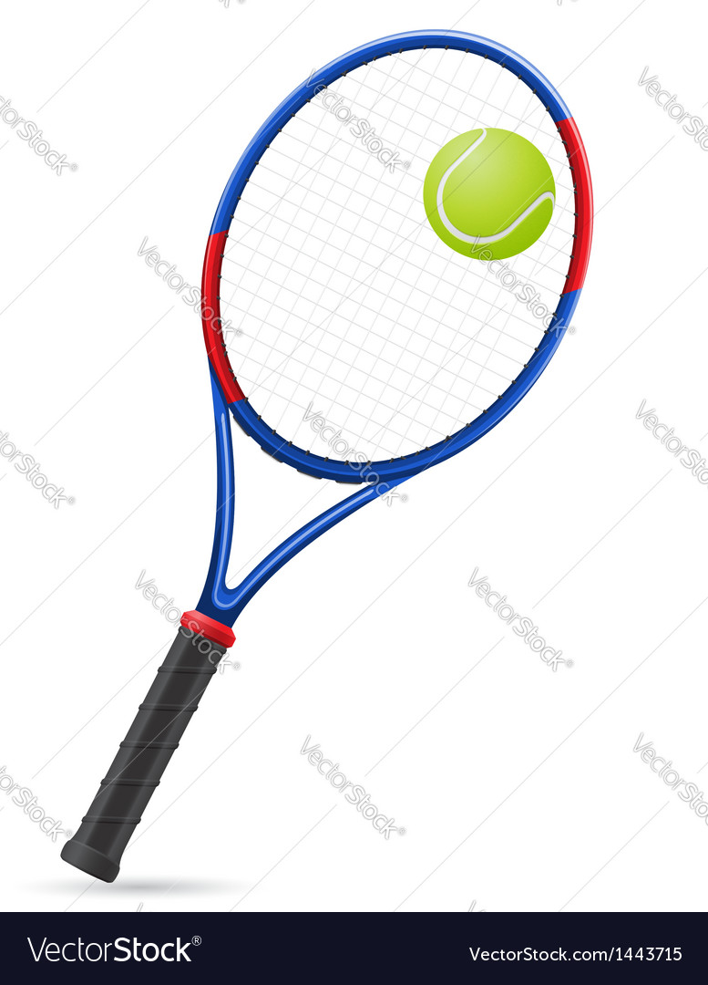 Tennis racket and ball vector | Price: 1 Credit (USD $1)