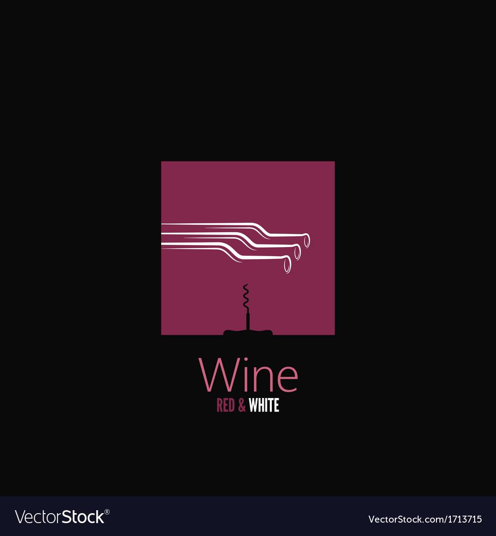 Wine bottle design background vector | Price: 1 Credit (USD $1)