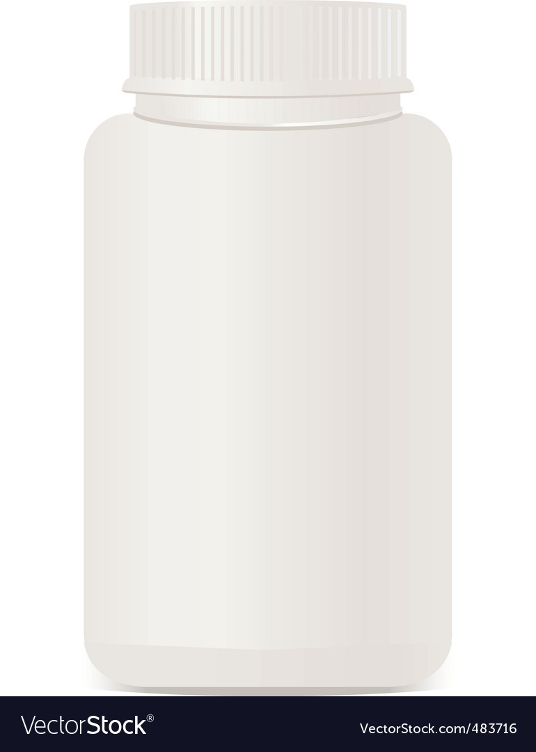A white plastic bottle isolate vector | Price: 1 Credit (USD $1)