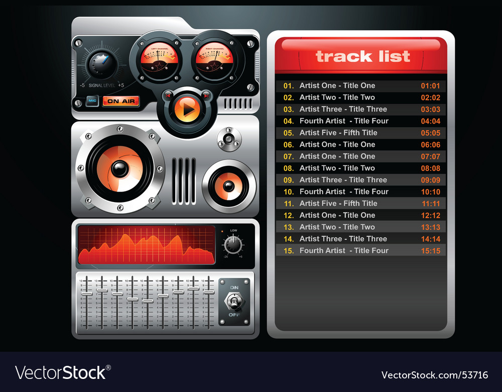 Analog mp3 player vector | Price: 5 Credit (USD $5)