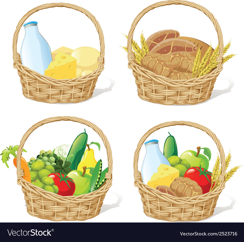 Baskets vector | Price: 1 Credit (USD $1)