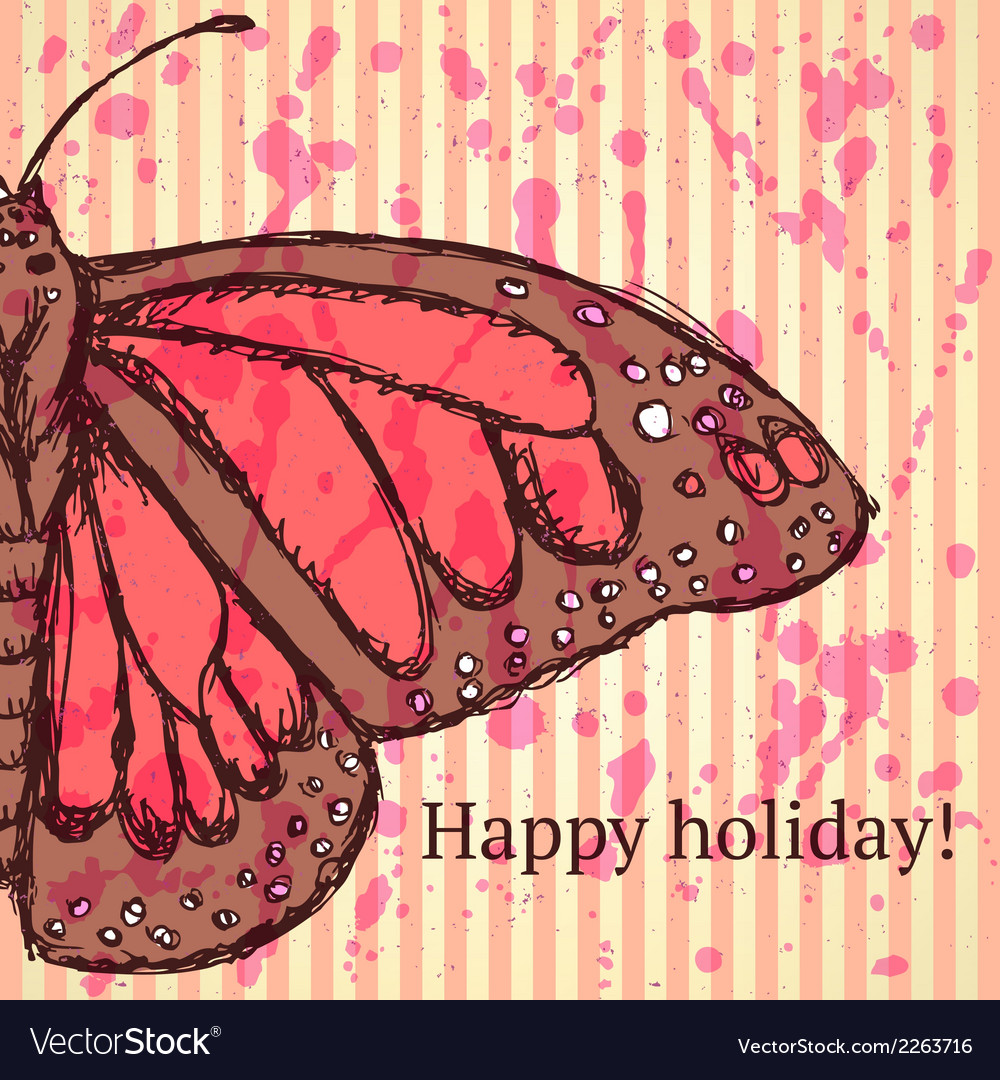 Butterfly holiday vector | Price: 1 Credit (USD $1)