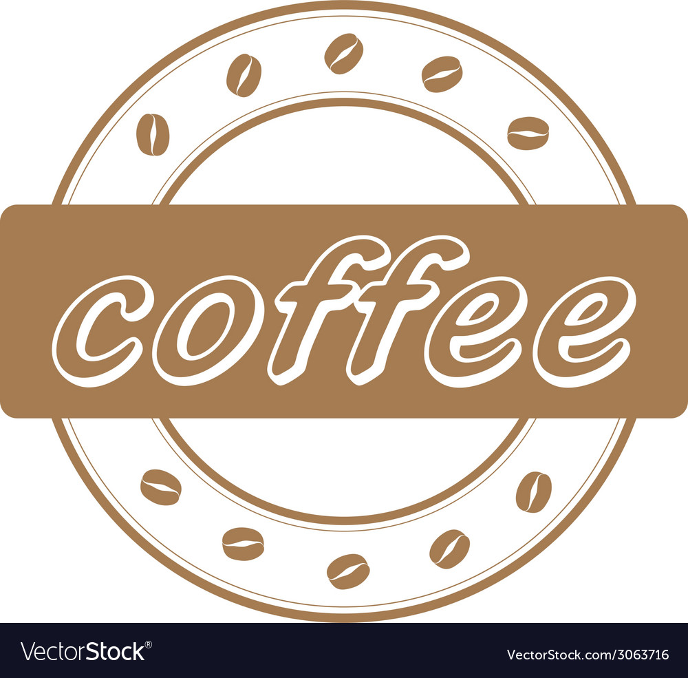 Coffee beans stamp vector   Price: 1 Credit (USD $1)