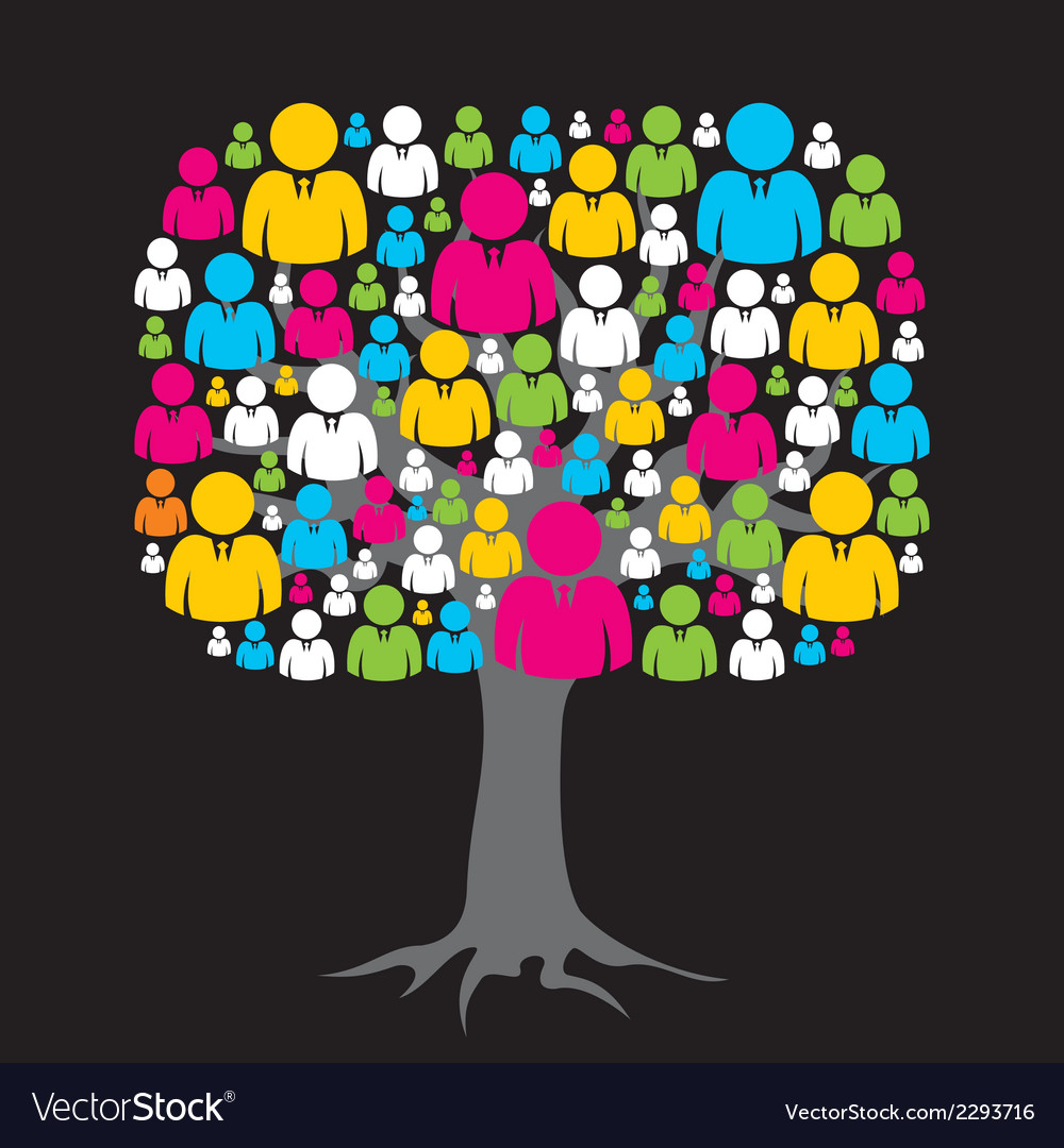 Colorful social media network tree stock vector | Price: 1 Credit (USD $1)