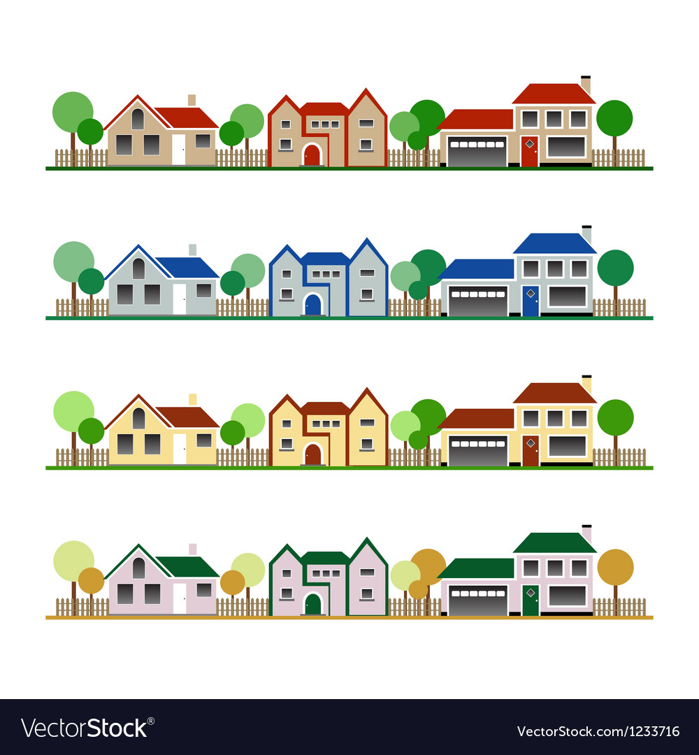 Eco houses vector | Price: 1 Credit (USD $1)