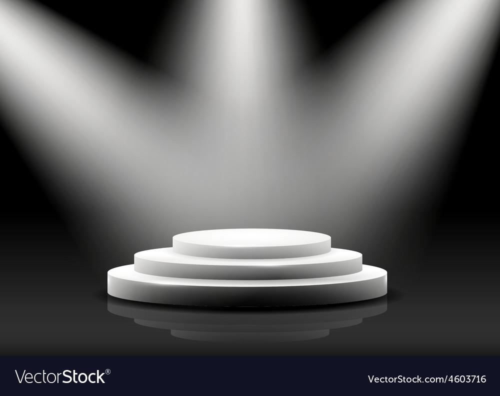 Empty podium on black vector | Price: 3 Credit (USD $3)