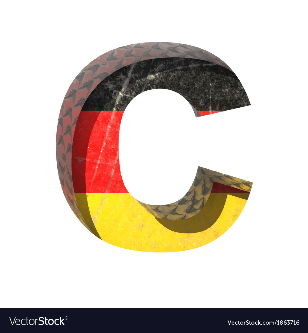 Germany cutted figure c vector | Price: 1 Credit (USD $1)