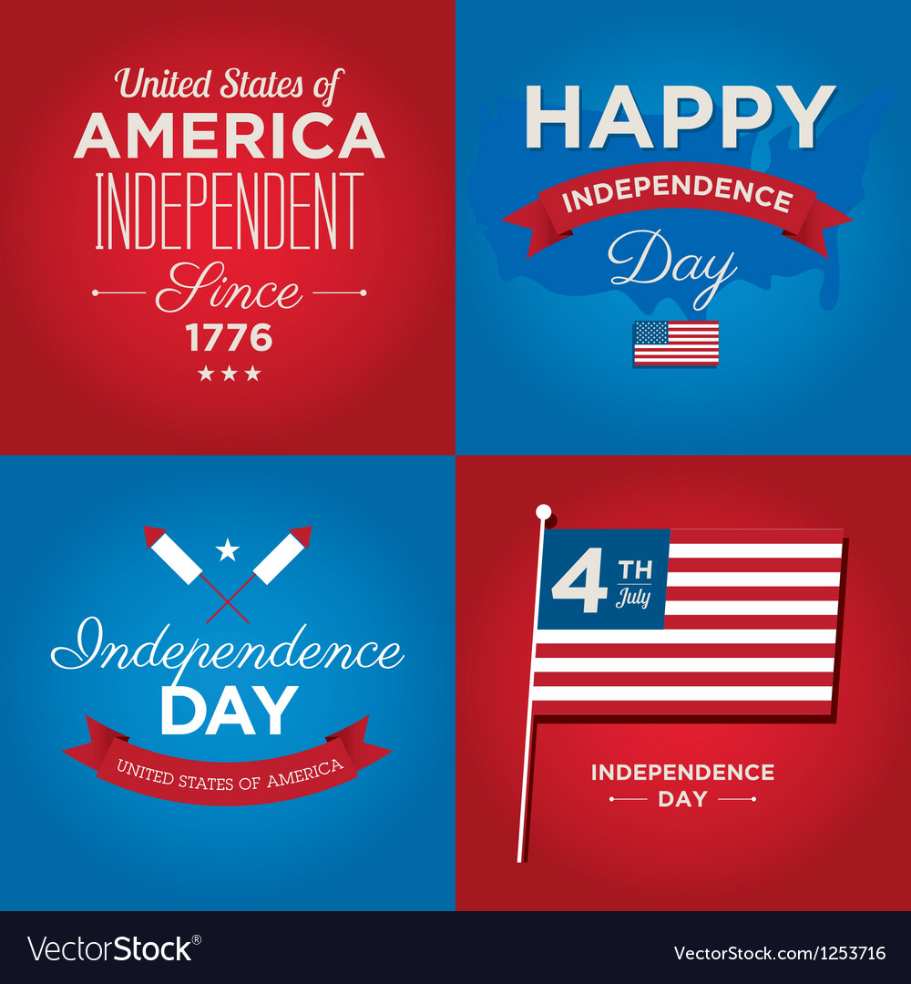 Happy independence day usa cards vector | Price: 1 Credit (USD $1)
