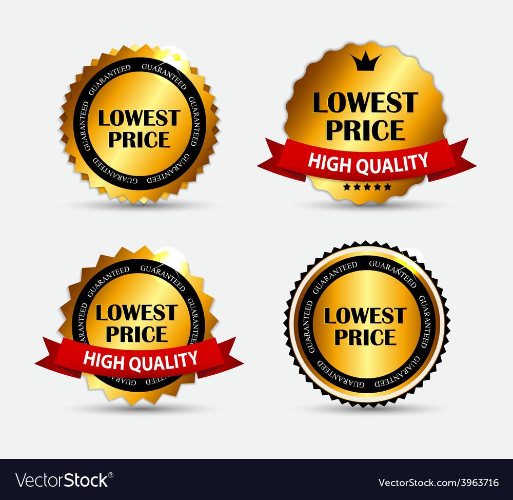 Lowest price label set vector   Price: 1 Credit (USD $1)