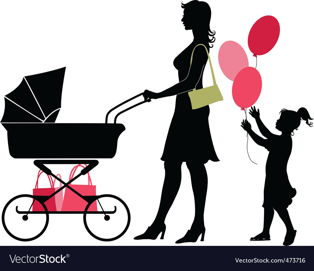 Mother and child vector | Price: 1 Credit (USD $1)