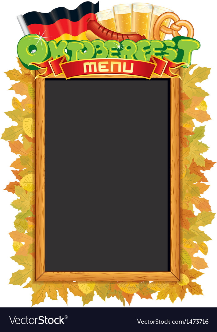 Oktoberfest menu blackboard template vector | Price: 1 Credit (USD $1)