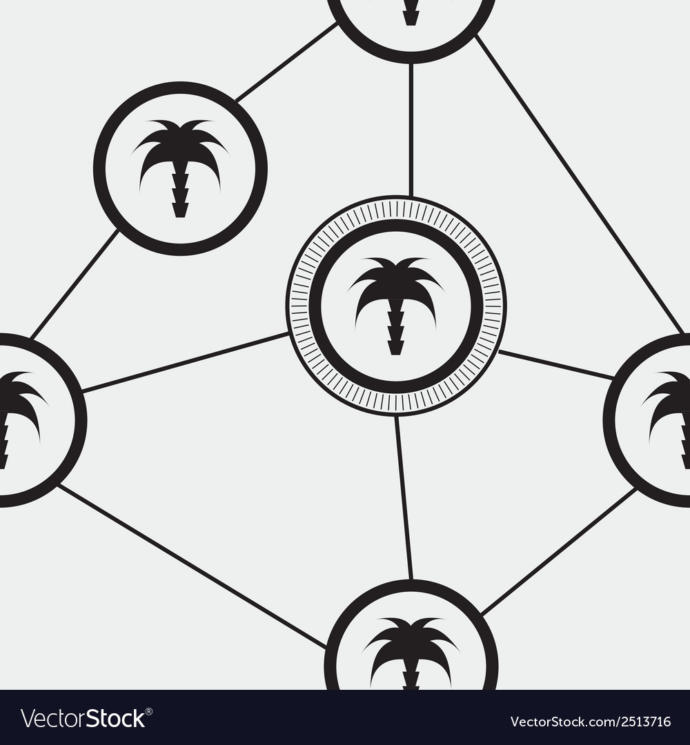 Palm tree pattern vector | Price: 1 Credit (USD $1)