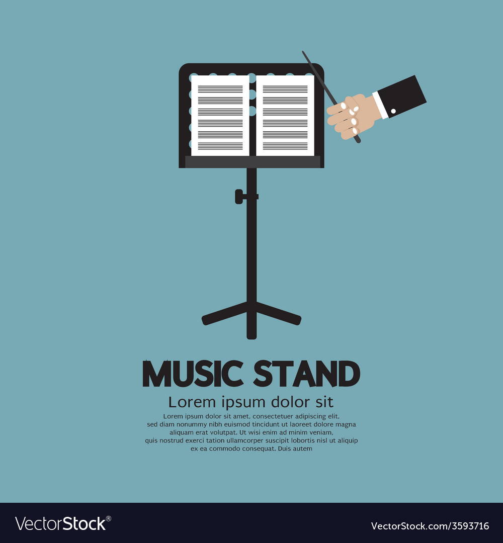 Single music stand with conductor vector | Price: 1 Credit (USD $1)