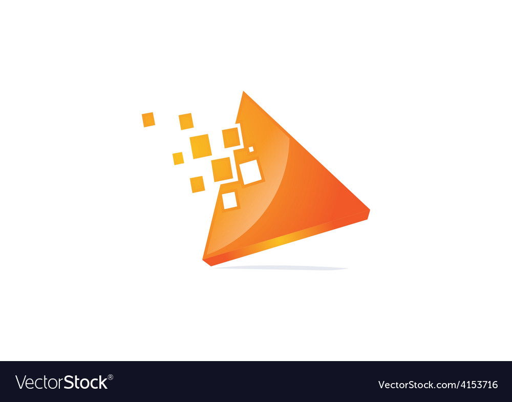 Triangle 3d technology logo vector | Price: 1 Credit (USD $1)
