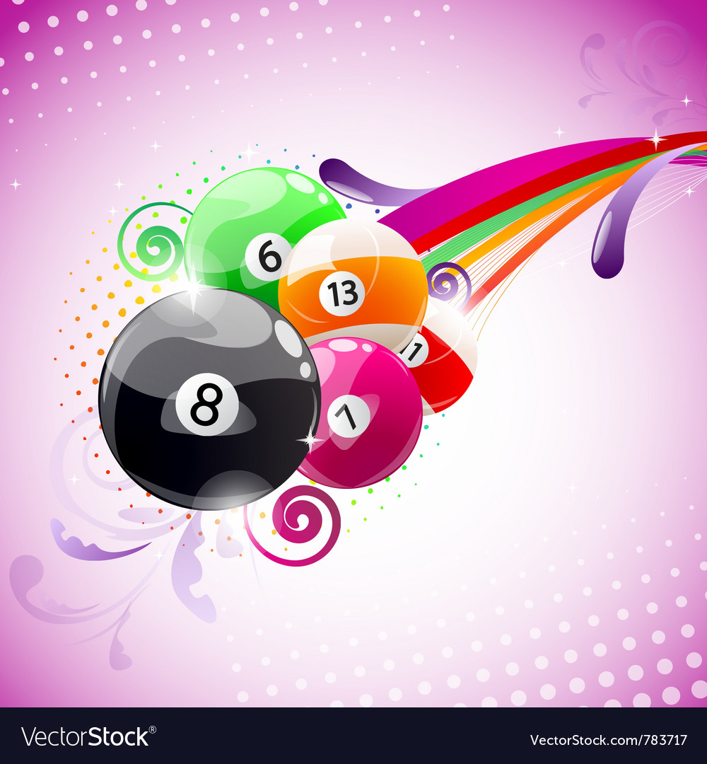 Abstract billiards background vector | Price: 1 Credit (USD $1)