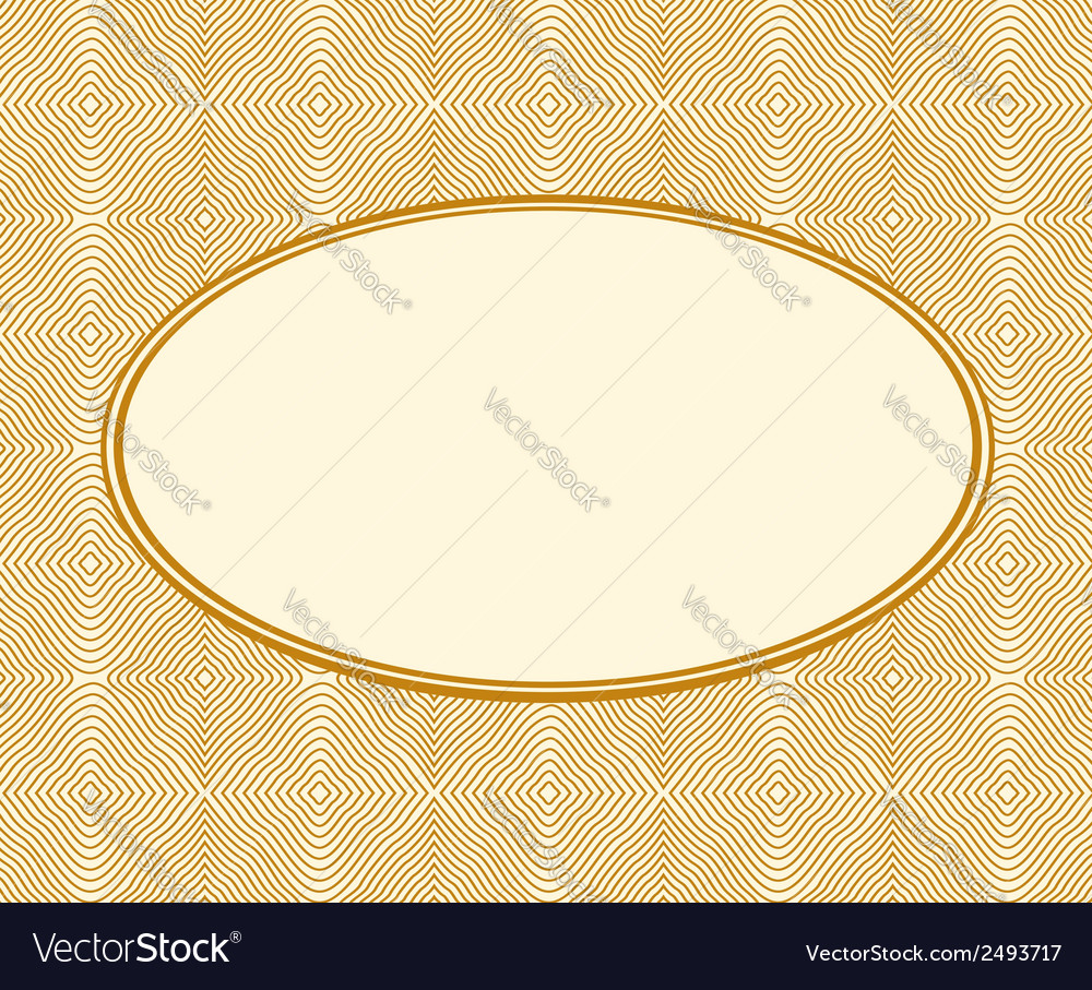 Beige frame on wooden background vector | Price: 1 Credit (USD $1)