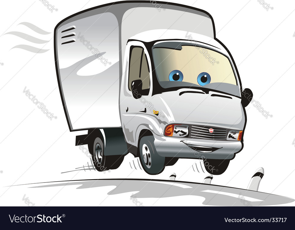 Cartoon cargo truck vector